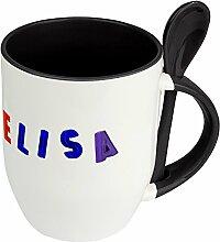 Namenstasse Elisa - Löffel-Tasse mit Namens-Motiv