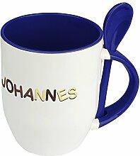 Namenstasse Johannes - Löffel-Tasse mit