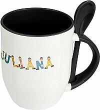 Namenstasse Juliana - Löffel-Tasse mit