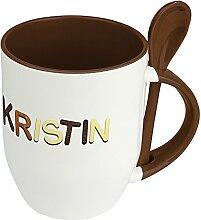 Namenstasse Kristin - Löffel-Tasse mit