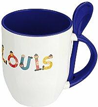 Namenstasse Louis - Löffel-Tasse mit Namens-Motiv
