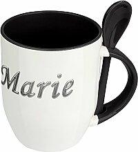 Namenstasse Marie - Löffel-Tasse mit Namens-Motiv