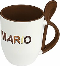 Namenstasse Mario - Löffel-Tasse mit Namens-Motiv
