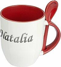 Namenstasse Natalia - Löffel-Tasse mit