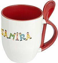 Namenstasse Samira - Löffel-Tasse mit