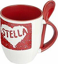 Namenstasse Stella - Löffel-Tasse mit