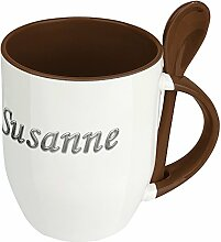 Namenstasse Susanne - Löffel-Tasse mit