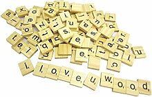 NAMVO 100PCS Hölzerne Scrabble Fliesen Buchstabe