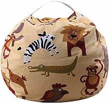 NAMYA Stofftier-Aufbewahrungs-Sitzsack für
