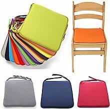 NANAD Set mit 2 Sitzkissen mit Bändern, 40 x 40