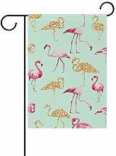 Nananma Dekorative Flamingo-Flaggen für den