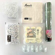 naninoa ®, DEKOSET 1, TISCHDEKORATION für den festlichen Tisch. (6725 Darkgreen / DUNKELGRÜN)