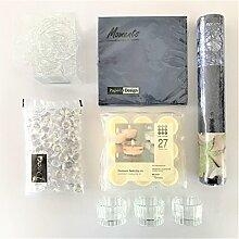 naninoa ®, DEKOSET 1, TISCHDEKORATION für den festlichen Tisch. (7570 Dark Blue / DUNKELBLAU)