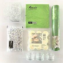 naninoa ®, DEKOSET 1, TISCHDEKORATION für den festlichen Tisch. (6380 Applegreen / APFELGRÜN)