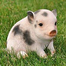 nanook Gartenfigur Schwein Gartendeko Tiere -