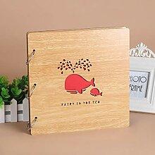 Napoto Album Holz handgefertigt DIY Familie