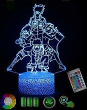 NAR·uto Kak·ashi 3D Nachtlicht Led Schreibtisch