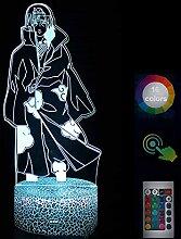 NAR·uto Uc·hiha It·achi Lampe 3D Nachtlicht Led