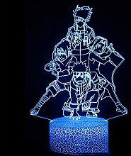 NAR·uto Uzu·Maki Lampe 3D Nachtlicht Led