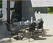 NARDI »Loto« Garten-Tisch rund 170 / anthrazit