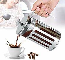 Naroote Kaffeekanne, Edelstahlglas French Press