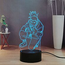 Naruto 3D Anime Night Light, Nara Shikamaru Smart