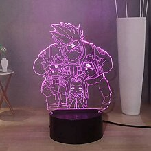 Naruto Anime 3D LED Nachtlicht, Kakashi Sasuke