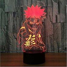Naruto Anime 3D Nachtlicht Kreative Elektrische