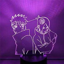 NARUTO Nagato Konan 3D Nachtlicht Anime Lampe