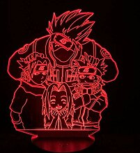 Naruto Optical 3D Nachtlicht Lampe LED