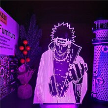 Naruto Pain Akatsuki 3D LED Farben Ändern