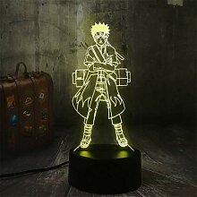 Naruto Schreibtisch Deko Led Touch Lampe 7 Farben