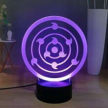 Naruto Shippuden 3D Anime LED Nachtlicht, Uchiha