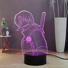Naruto Uchiha Itachi LED Nachtlicht für Kinder,