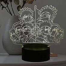 Naruto Uzumaki Lampe 3D Optischer Sensor Touch