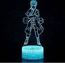 Naruto Uzumaki Naruto Theme 3D Lampe LED