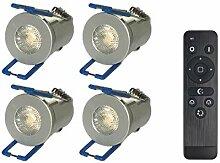 NAS 1W LED Mini Einbaustrahler, Aluminium, IP65