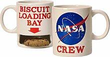NASA Crew Kaffeebecher mit Keksfach - Tasse