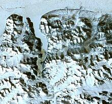 NASApete Grönland, Satellitenfoto, Fototapete,