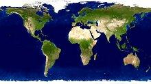 NASApete Welt, Erde, Satellitenfoto, Karte, Landkarte, Fototapete Weltkarte, Bildtapete, XXXL-Poster, 10 Bahnen, 465x260cm
