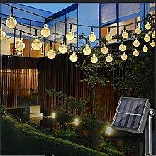 Nasharia LED Solar Lichterkette mit LED Kugel 6.5M