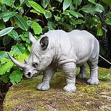 Nashorn Deko Figur Afrika Dekoration Rhinozeross Safari Wildlife Animals Africa