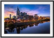 Nashville Skyline Panorama Bilderrahmen mit