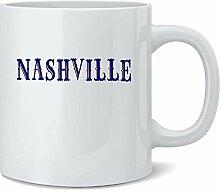Nashville Tennessee Retro Vintage Travel Ceramic