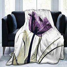 Nat Abra Elegante Tulpe Lila Blume Ultra-Soft