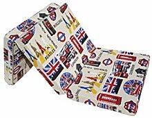 Natalia Spzoo Faltmatratze Klappmatratze 198x80x10 cm Bunt Muster-Wahl (London)