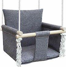 NATILU Babyschaukel Kinderschaukel (Silver)