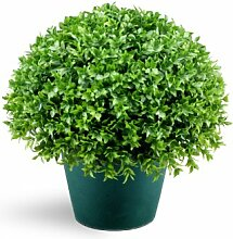 National Baum 33cm Globe Japanische Holly Bush mit Dunkelgrün, rund, Kunststoff,