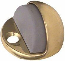 National Hardware Boden Türstopper mit Gummi Bumper, Solid Brass, Pack of 1