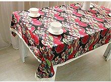 National Style Baumwolle und Leinen Tischdecke